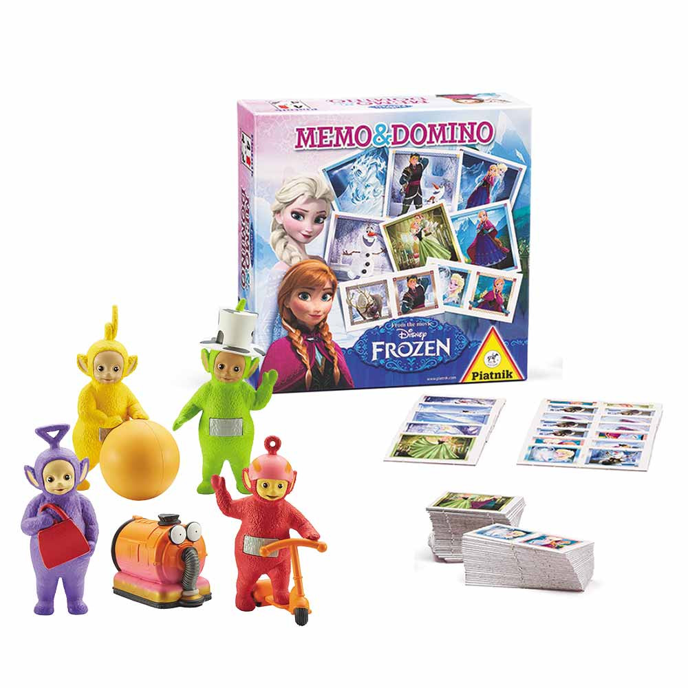 Set 5x Telebajski figure & Memo&domino