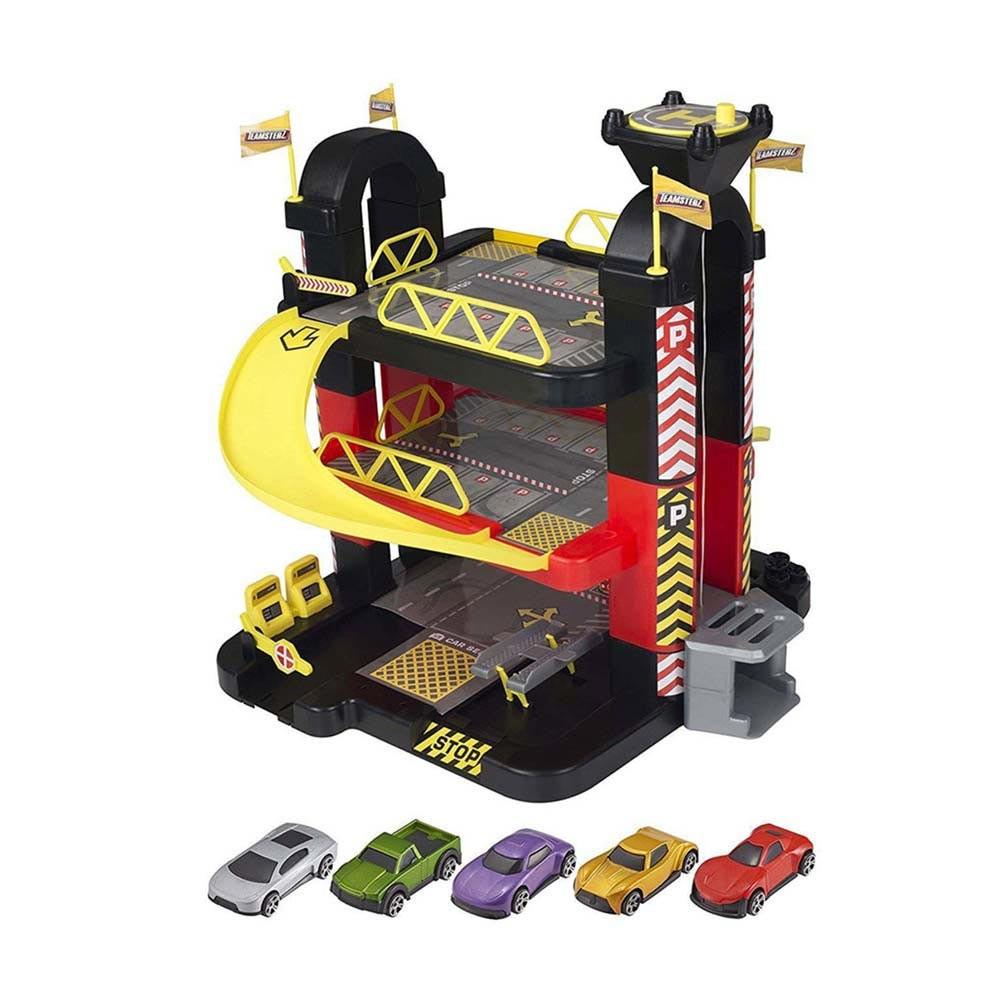TZ garaža s stolpom in 5 avtomobilčkov