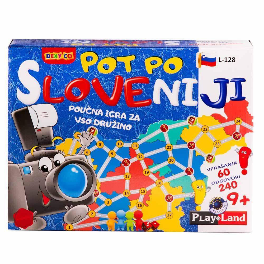 Pot po Sloveniji poučna družabna igra
