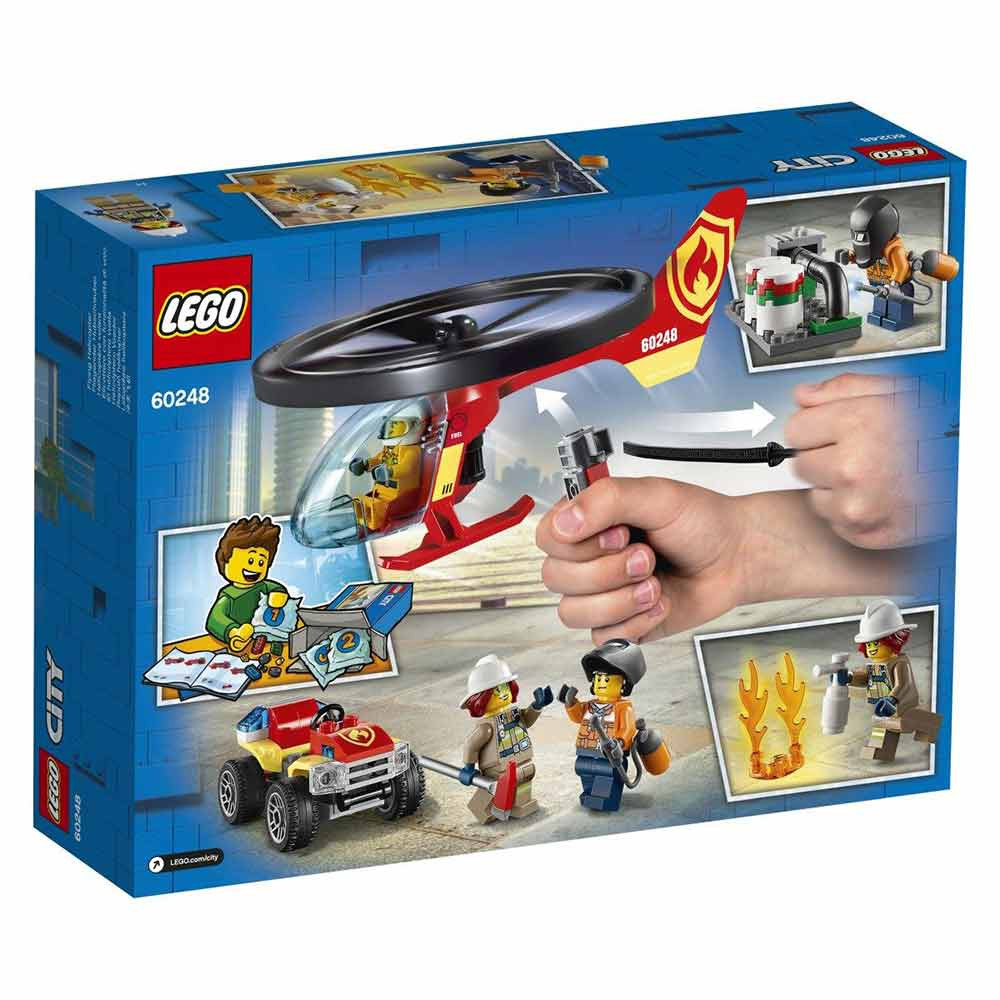 LEGO City Fire Gasilski helikopter na po
