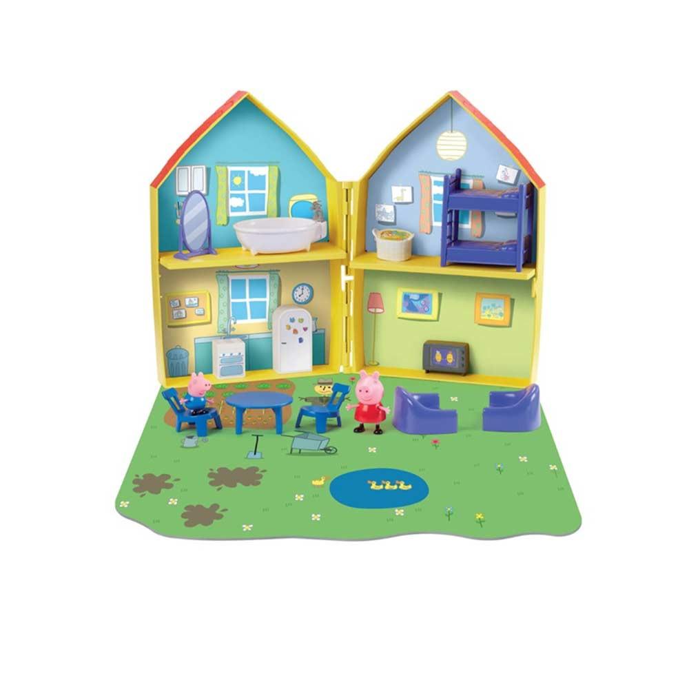 Pujsa Pepa komplet družinska hiša