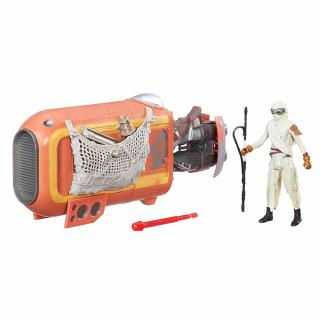 Star Wars delux vozilo s figuro Rey