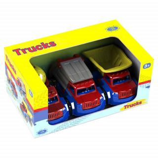 Tovornjak set 3 vozil s figurami
