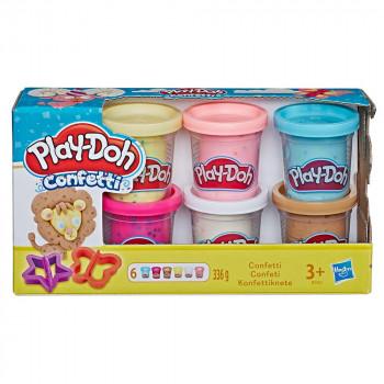 Play-Doh komplet 6 lončkov konfeti