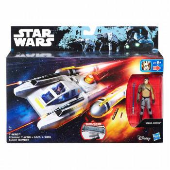 Star Wars delux vozilo s figuro Y-Wing