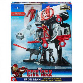 Avengers igralni set Armory z Iron Manom