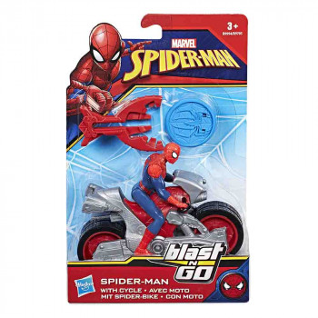 Spider-Man figura z motorjem Blast n Go