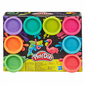 Play-Doh 8 lončkov neon mase