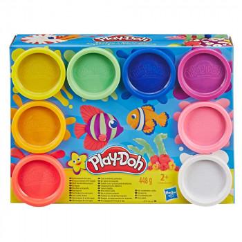 Play-Doh 8 lončkov mavrične mase