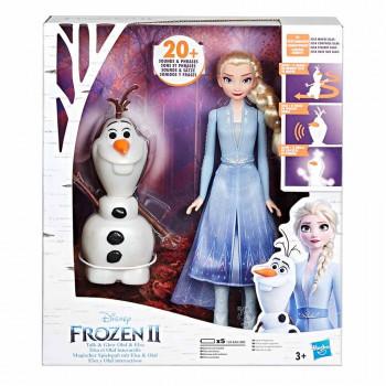 Frozen 2 svetleča lutka Olaf in Elza