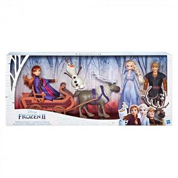 Frozen 2 set petih lutk s sankami