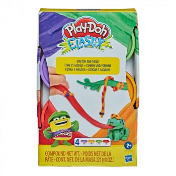 Play-Doh Elastix set 4 lončkov mase A