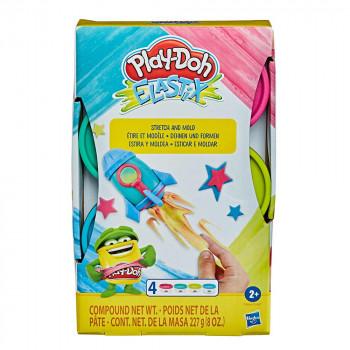 Play-Doh Elastix set 4 lončkov mase B