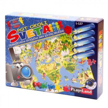 Pot okoli sveta poučna družabna igra