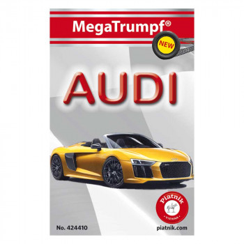 Piatnik karte avtomobili Audi rumen